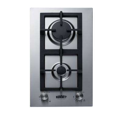 12 in. Gas Cooktop in Stainless Steel with 2-Burners