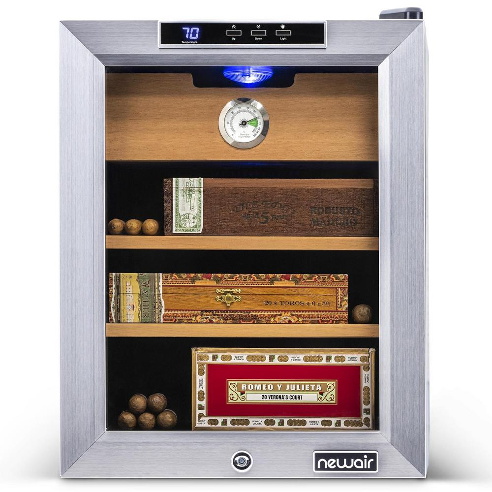 Amazing Newair Premium 250 Count Cigar Humidor With Spanish Cedar Wood Shelves And Cool And Heat Temperature Control Stainless Steel Download Free Architecture Designs Embacsunscenecom