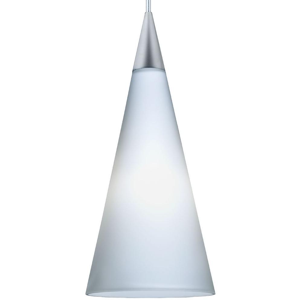 Juno 1-Light Opal LED Pendant Kit Tall Cone