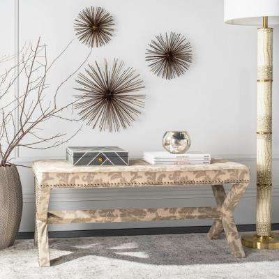 Melanie Taupe and Beige Bench