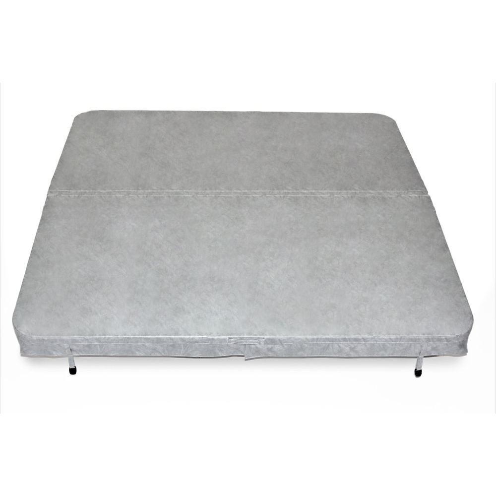 90 in. x 90 in. x 4 in. Spa Cover in Grey