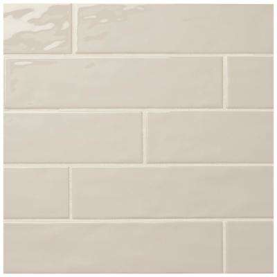 LuxeCraft Taupe 3 in. x 12 in. Glazed Ceramic Wall Tile (0.25 sq. ft. / piece)