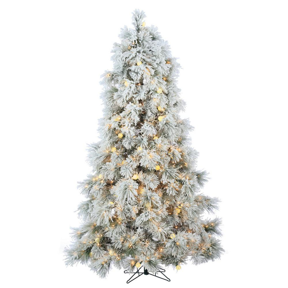Flocked Christmas Tree: Sterling 7.5 Ft. Heavily Flocked Northern Pine Artificial