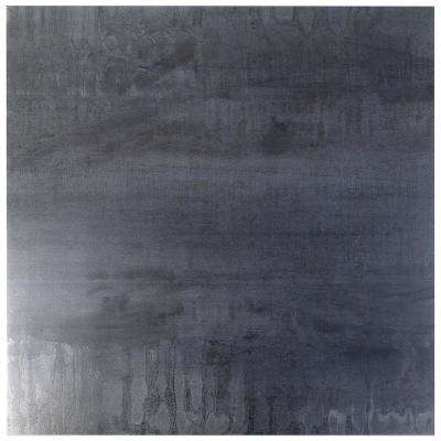 Metallic Dark Gray 24 in. x 24 in. x 8mm Matte Porcelain Floor and Wall Tile (4 pieces / 15.49 sq. ft. / box)