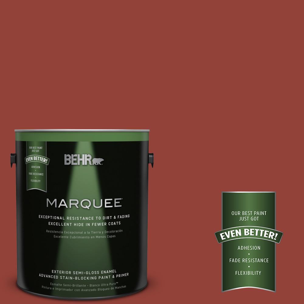 BEHR MARQUEE 1-gal. #PMD-21 Autumn Maple Semi-Gloss Enamel Exterior Paint
