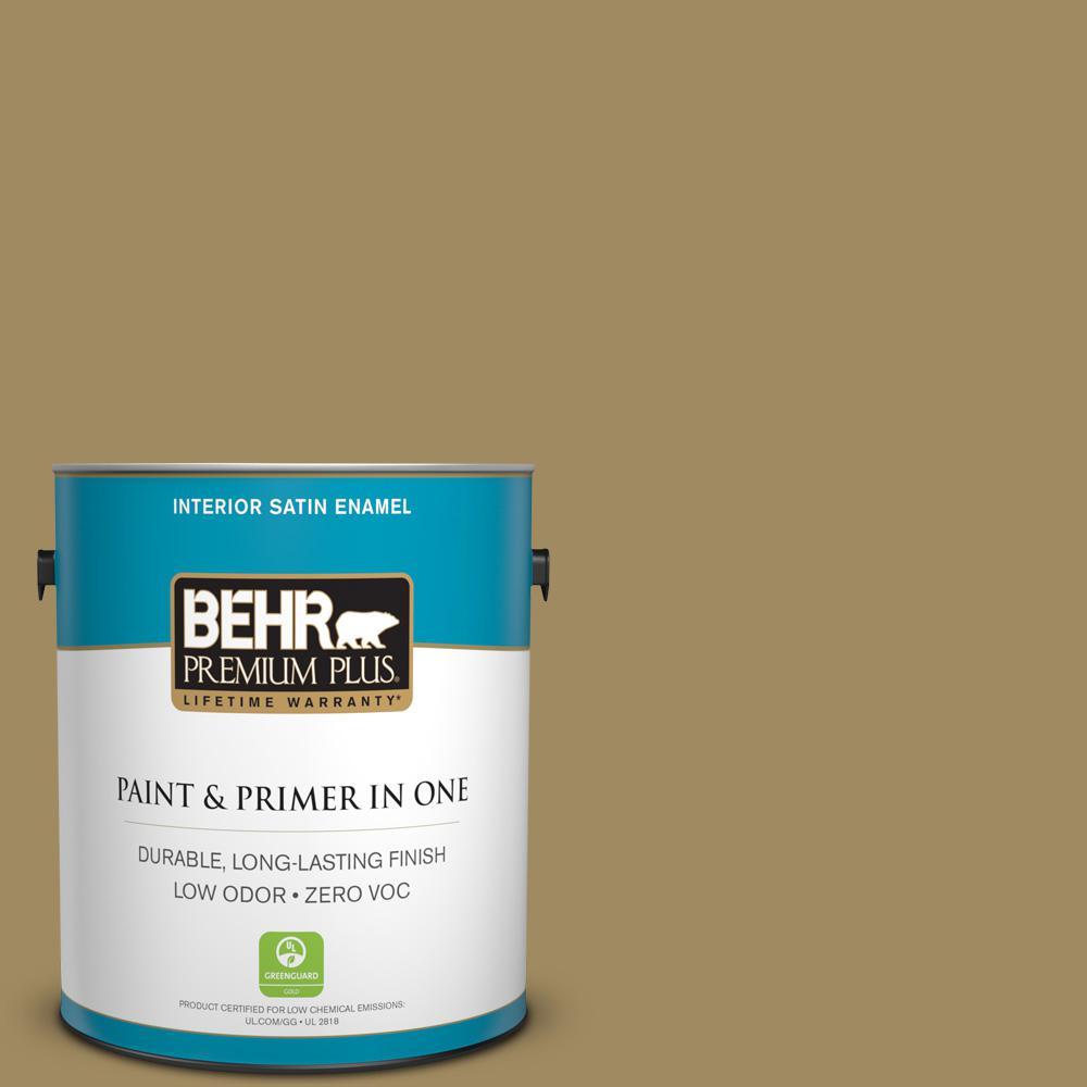 1-gal. #S320-6 Garden Salt Green Satin Enamel Interior Paint