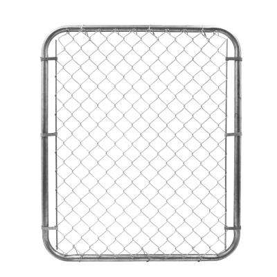 6 ft. W x 4 ft. H Metal Expandable Galvanized Chain Link Fence Gate Kit