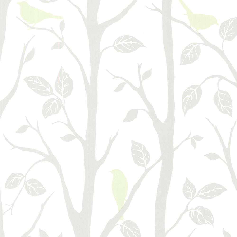 Brewster 8 in. x 10 in. Corwin Light Green Bird Branches