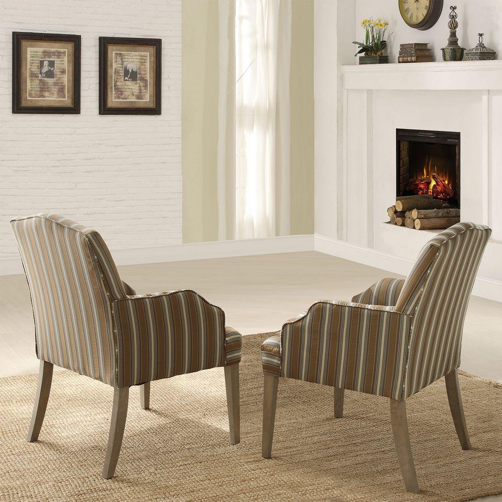 HomeSullivan Kinsley Driftwood Dining Chair (Set of 2)