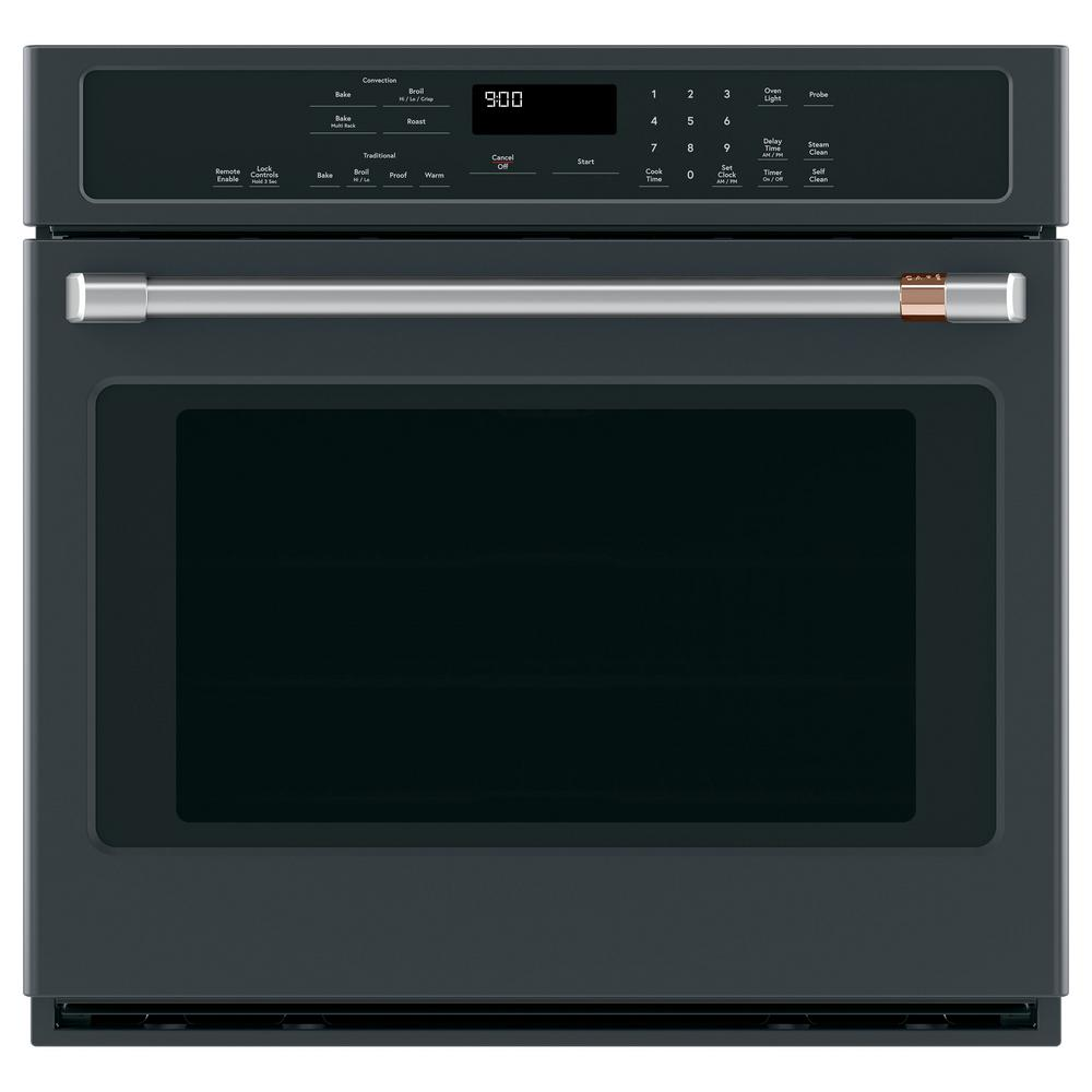 30 in. Single Electric Wall Oven with Convection Steam-Cleaning in Matte