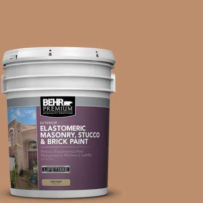 5 gal. #MS-10 Desert Shade Elastomeric Masonry, Stucco and Brick Exterior Paint