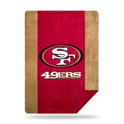 49ers Multi Color Acrylic Sliver Knit Throw