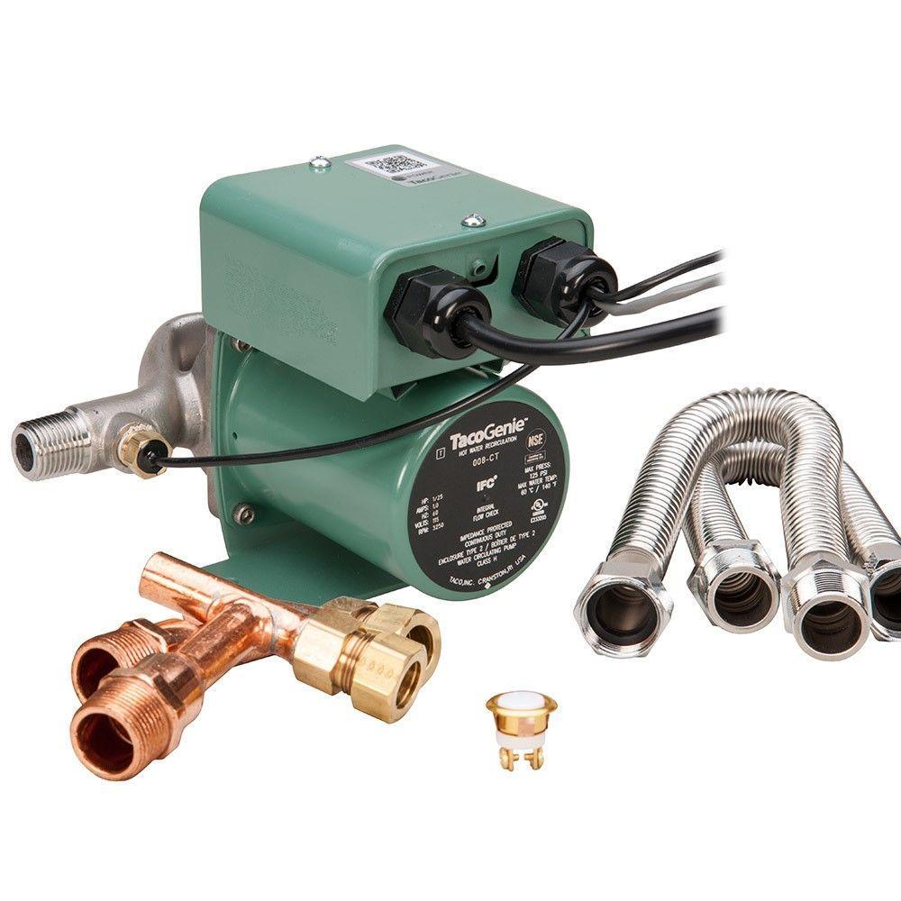 Taco tacogenie 1 25 hp hot water recirculating pump with for Pros and cons of hot water recirculating pump