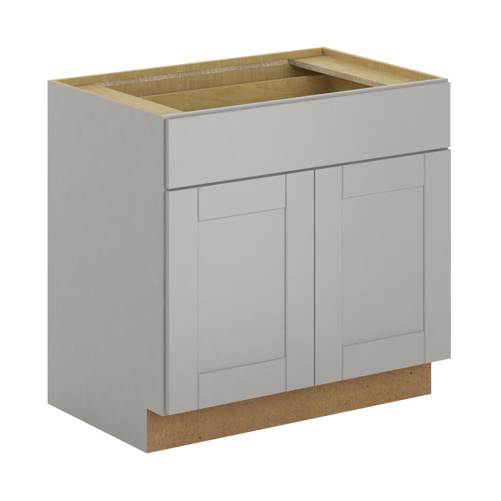 Hampton bay princeton shaker assembled in base for Assembled kitchen units