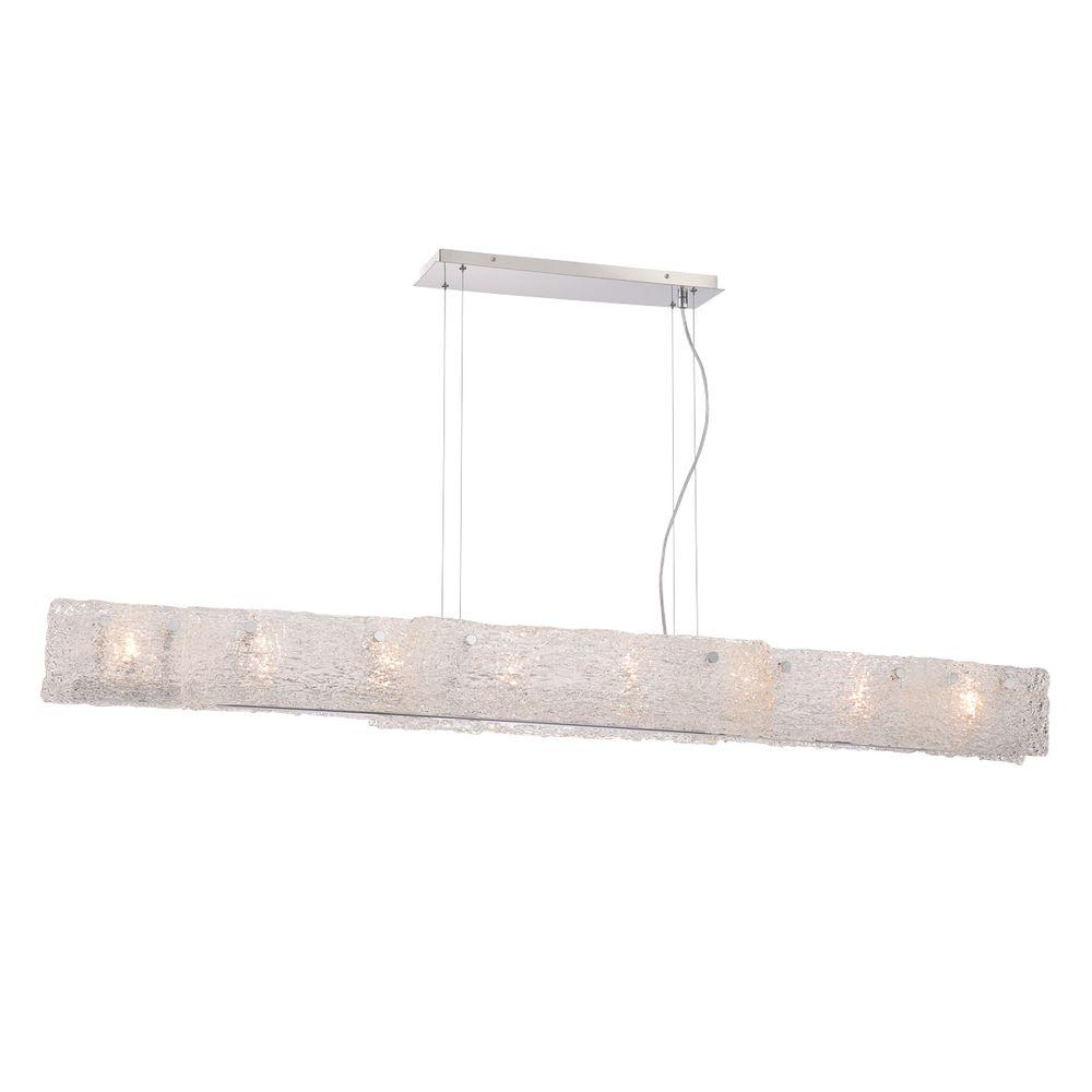 Eurofase Caramico Collection 8-Light Chrome Linear Pendant