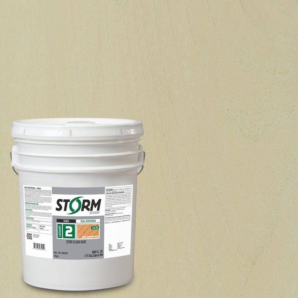 Storm System Category 2 5 gal. Winter Summit Exterior Semi-Transparent Dual Dispersion Wood Finish