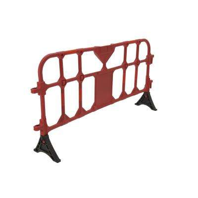 79 in. x 40 in. x 3 in. Red Plastic Handrail Barrier