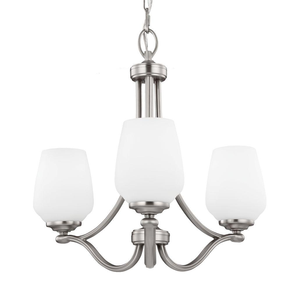 Vintner 3-Light Satin Nickel Single-Tier Chandelier