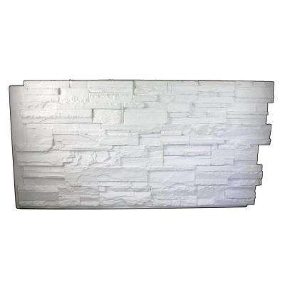 Faux Tennessee 24 in. x 48 in. x 1-1/4 in. Stack Stone Panel Dove White