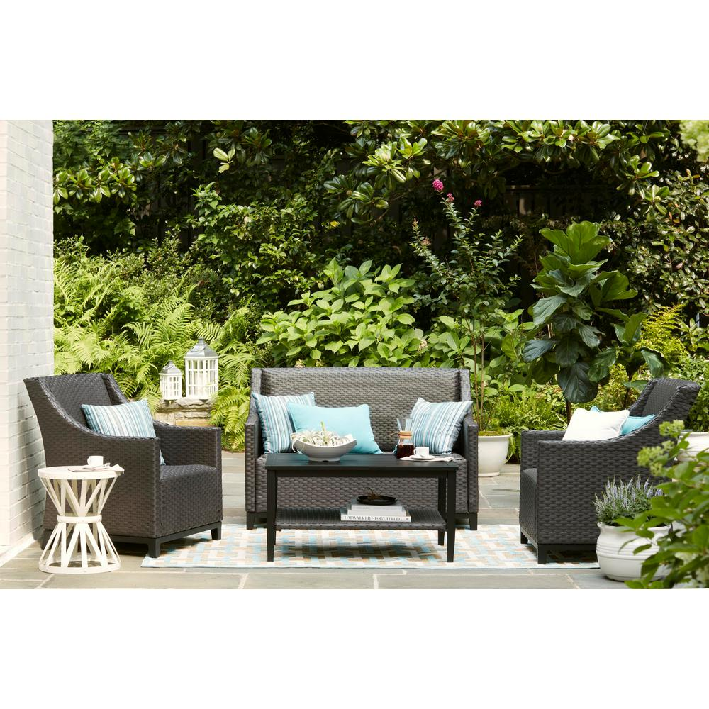 Bainbridge 4-Piece Wicker Patio Conversation Set