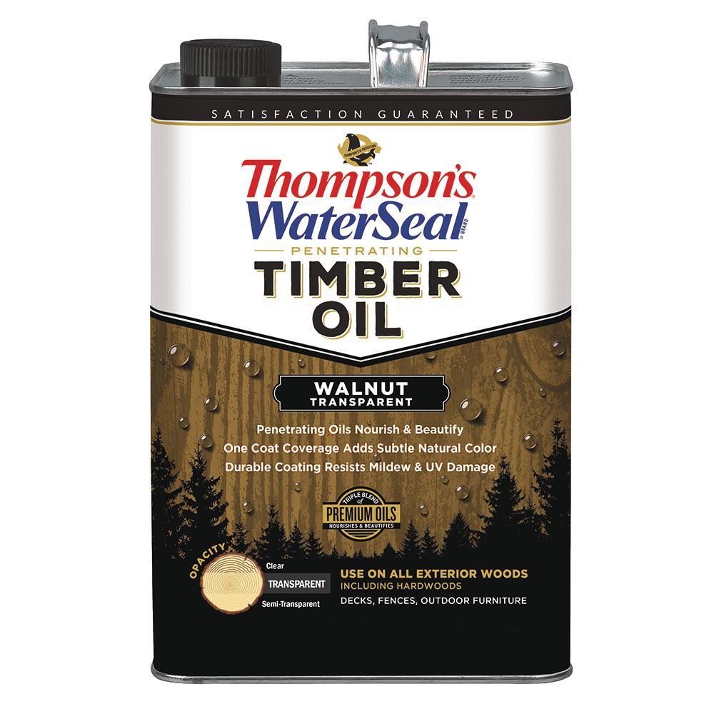 1 gal. Transparent Walnut Penetrating Timber Oil Exterior (4-Pack)