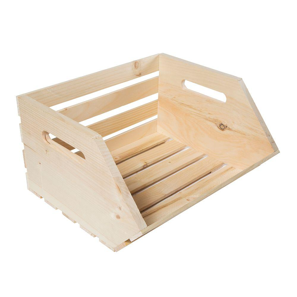 Crates & Pallet 13.25 in. x 15.625 in. x 9.25 in. Vegetable Wood Crate (2-Pack)