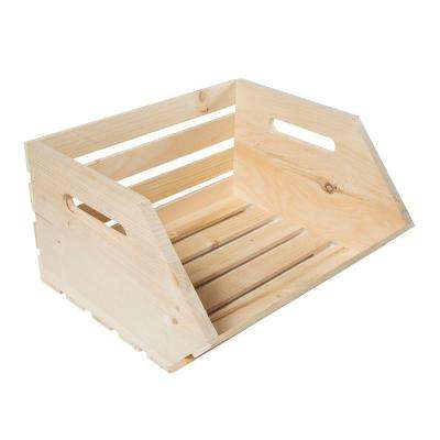 13.25 in. x 15.625 in. x 9.25 in. Vegetable Wood Crate (2-Pack)