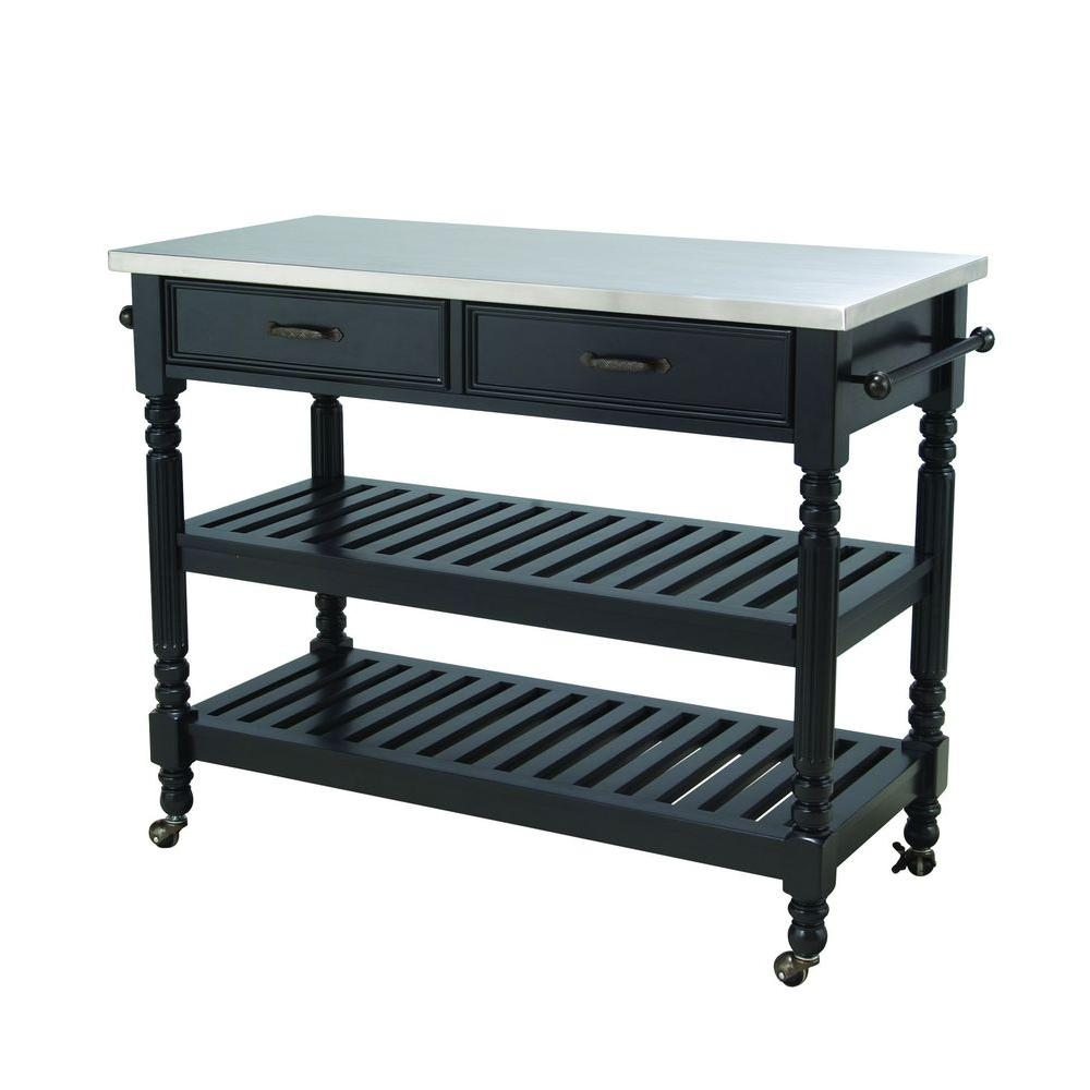 Savannah Kitchen Cart Black