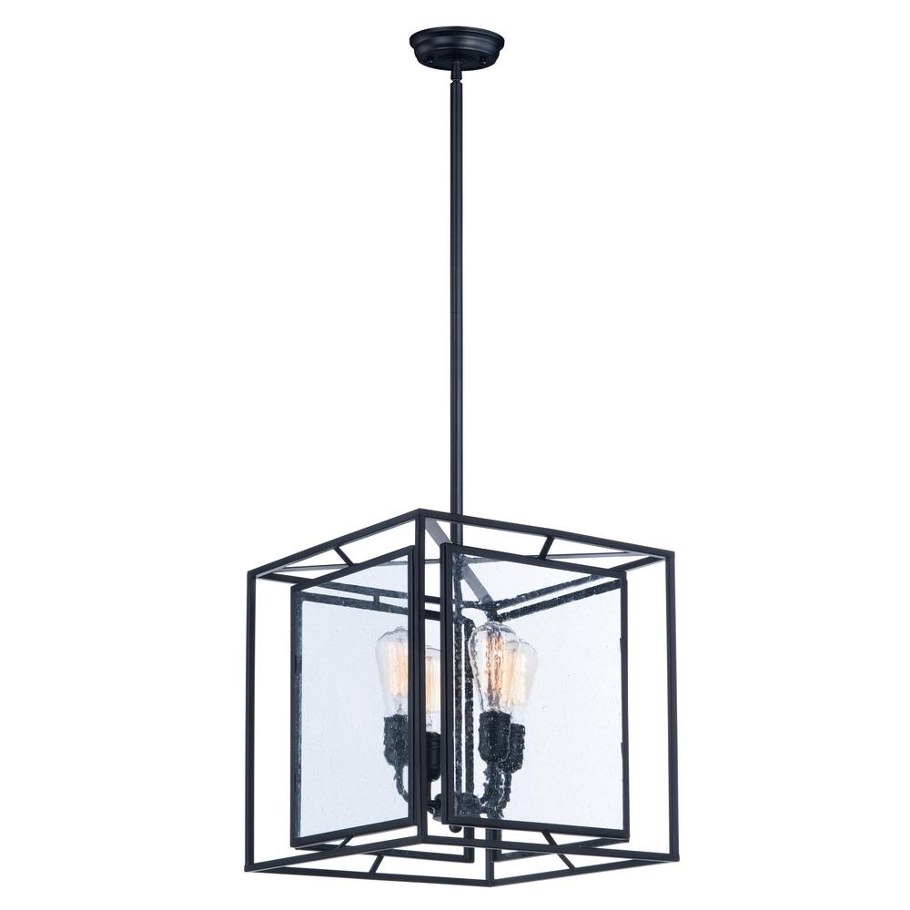 Maxim Lighting Era 4-Light Black Pendant Maxim Lighting's commitment to both the residential lighting and the home building industries will assure you a product line focused on your lighting needs. With Maxim Lighting accessories you will find quality product that is well designed, well priced and readily available. Maxim has fixtures in a variety of styles and a strong presence in the energy-efficient lighting industry, Maxim Lighting is the clear choice for quality lighting.