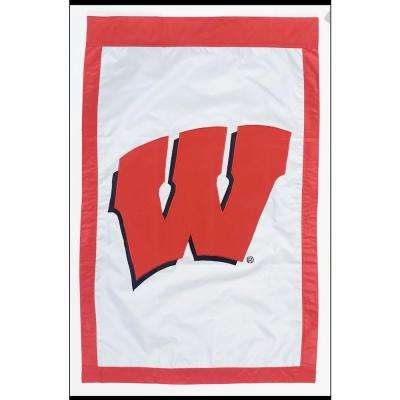 NCAA 28 in. x 44 in. Wisconsin 2-Sided Flag