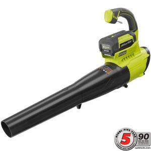 Ryobi 155 MPH 300 CFM 40-Volt Lithium-Ion Cordless Jet Fan Blower - 2.6 Ah Battery and Charger Included by Ryobi