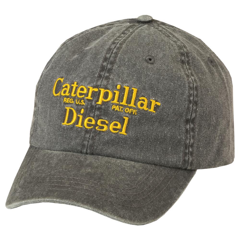 6da5c2bb89a67 Caterpillar Diesel Men s One Size Black Cotton Twill Cap Headwear ...