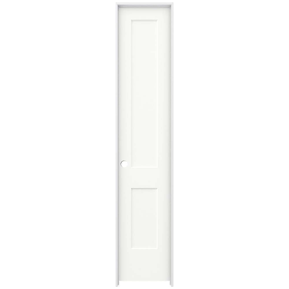 Jeld Wen 20 In X 96 In Monroe White Painted Right Hand Smooth Solid Core Molded Composite Mdf