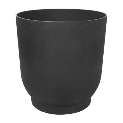 20 in. x 21 in. Slate Rubber Florencia Self-Watering Planter