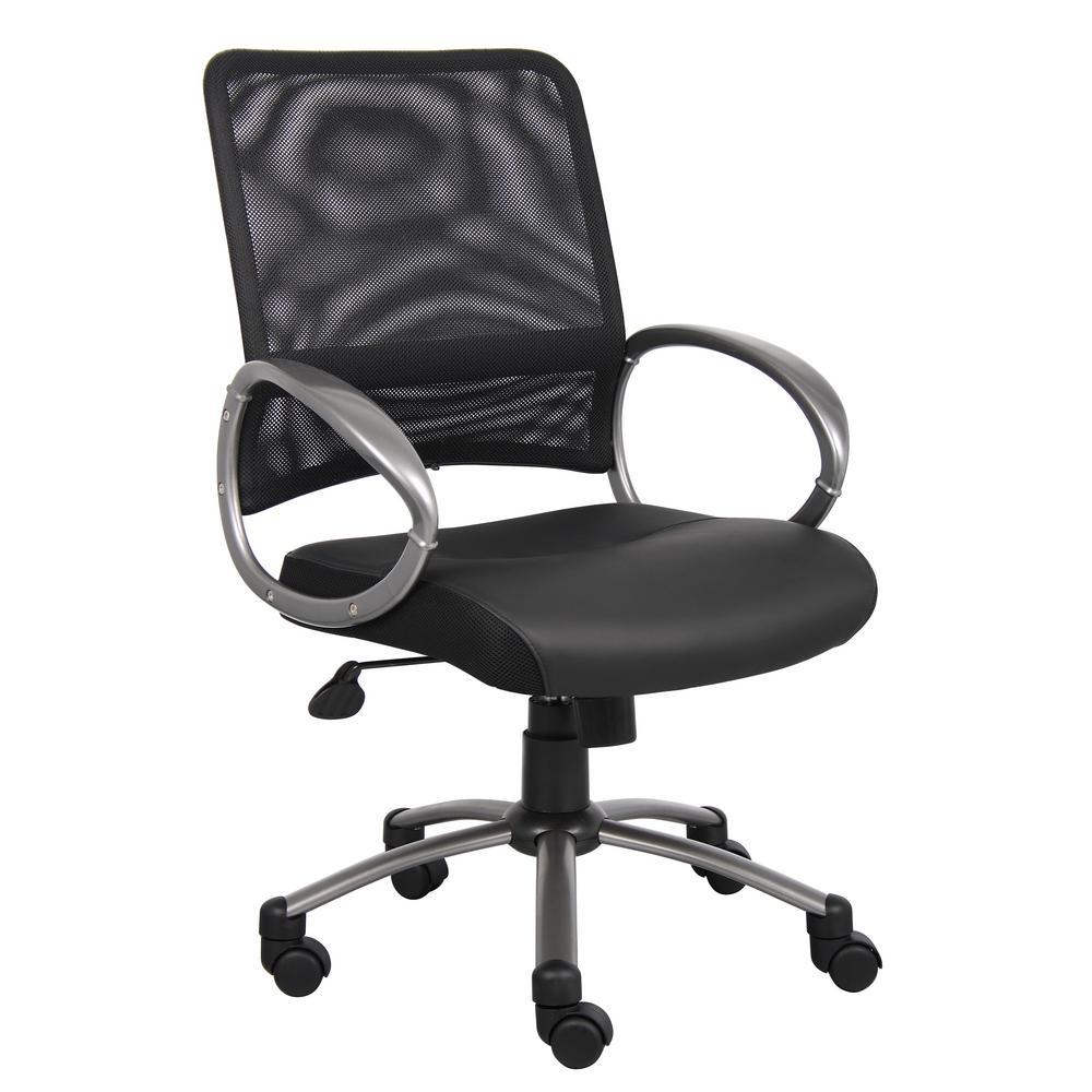 Boss Black Mesh Back Task Chair-B6406