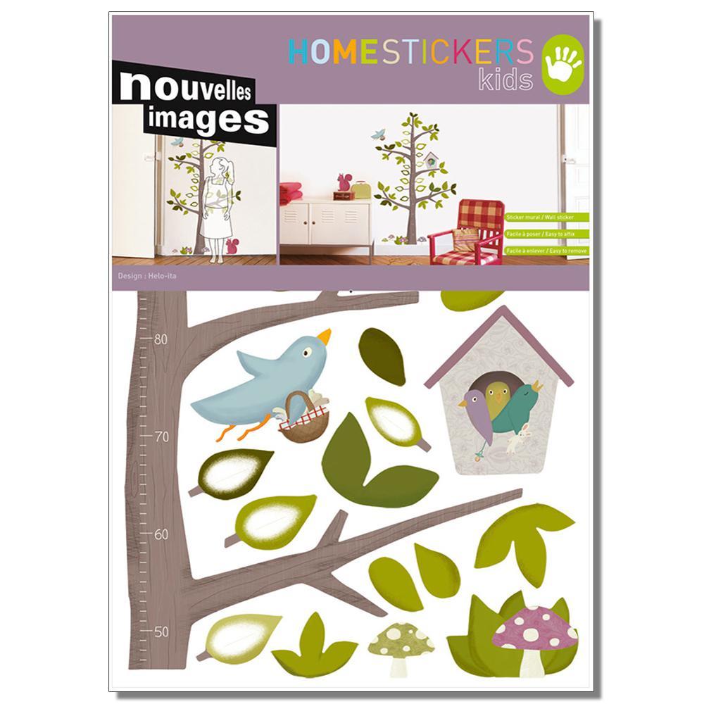 nouvelles images multicolor arbre toise home sticker host 1840 the home depot. Black Bedroom Furniture Sets. Home Design Ideas