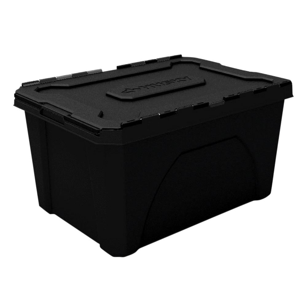 Husky 18 Gal Flip Top Storage Tote 229366 The Home Depot