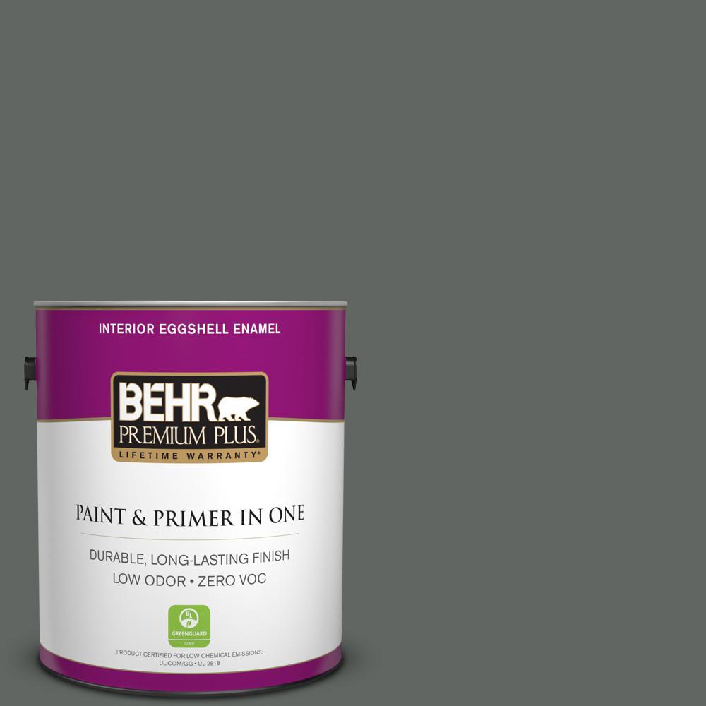 1 gal. #PPU25-02 Black Locust Zero VOC Eggshell Enamel Interior Paint