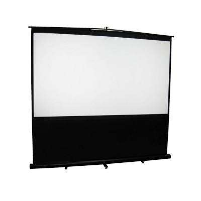 Reflexion Floor 72 in. H x 96 in. W Manual Pull-Up Projection Screen