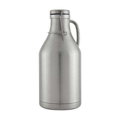 The Grizzly Stainless Steel 64 oz. Double Wall Flip Top Beer Growler