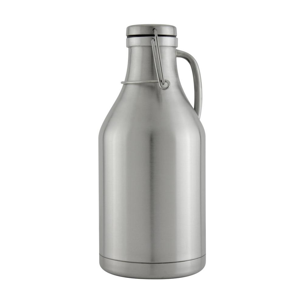 kegco the grizzly stainless steel 64 oz double wall flip top beer