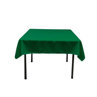 52 in. by 52 in. Emerald Green Polyester Poplin Square Tablecloth
