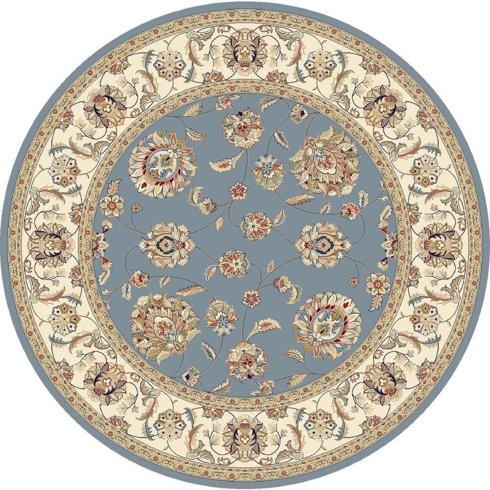 Judith Light Blue/Ivory 5 ft. x 5 ft. Round Indoor Area Rug
