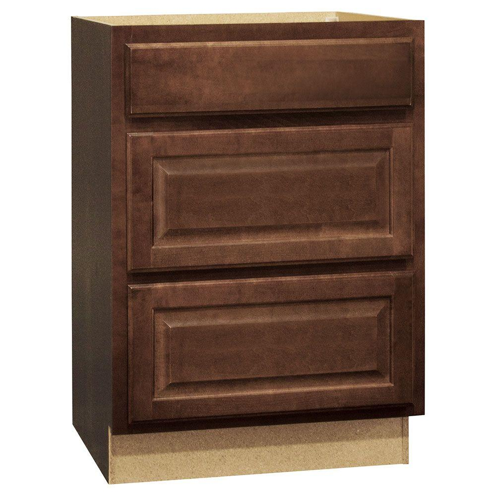 Kitchen Cabinet Drawer With Top: Hampton Bay Hampton Assembled 24x34.5x24 In. Drawer Base