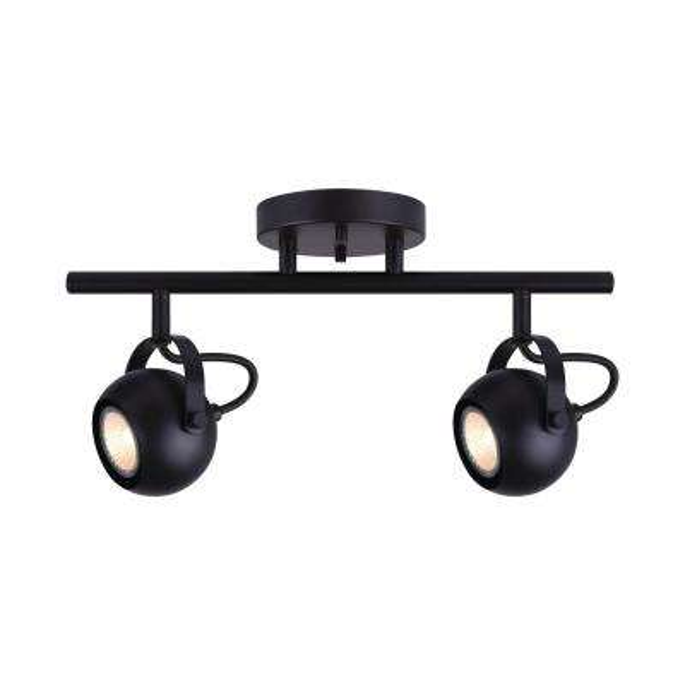 Murphy 15 in. 2-Light Matte Black Track Lighting Kit