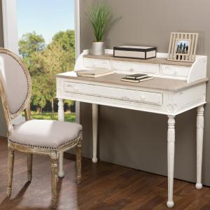 Alys White And Light Brown Desk