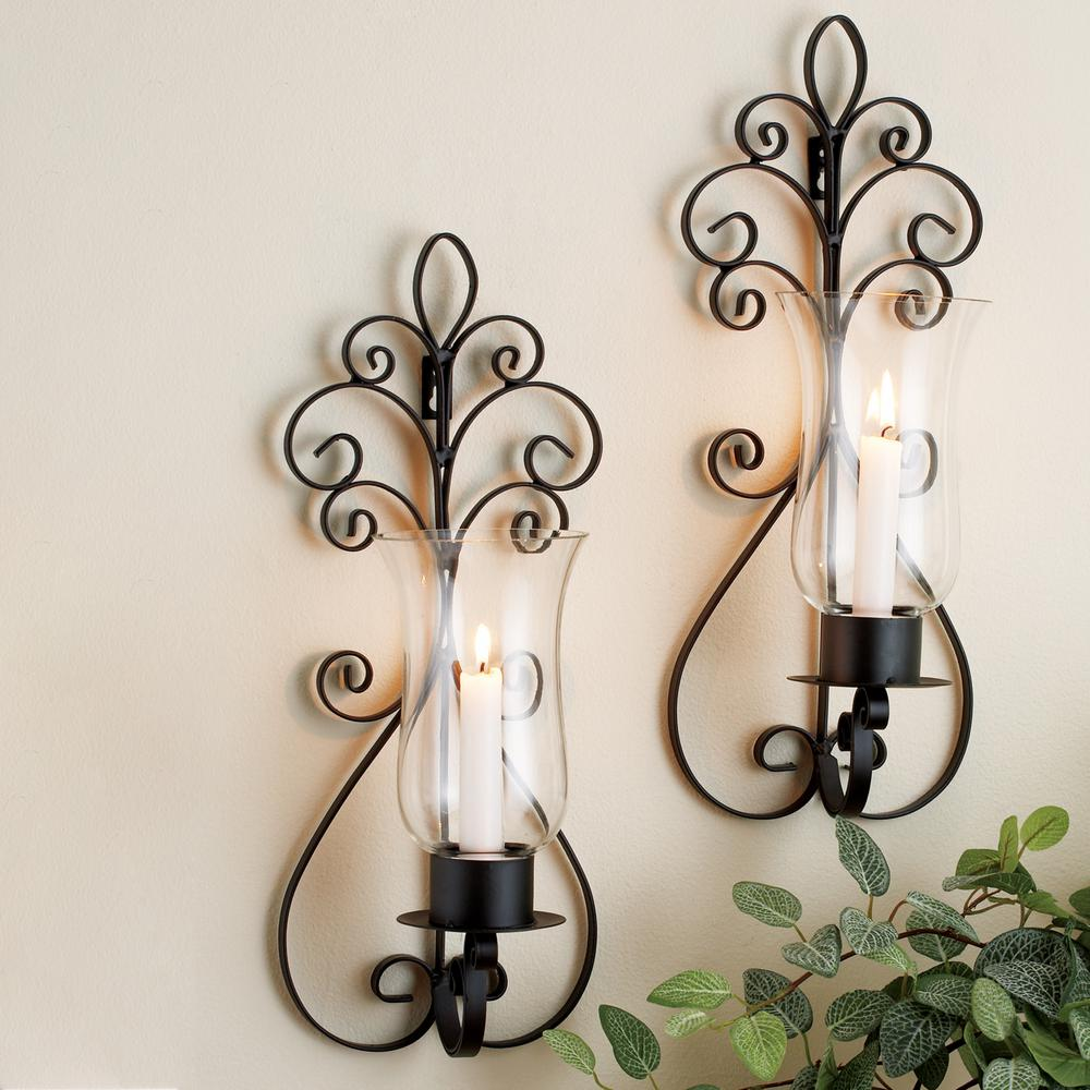 Home Essentials Beyond Scroll Wall Sconces Set Of 2 7027 The