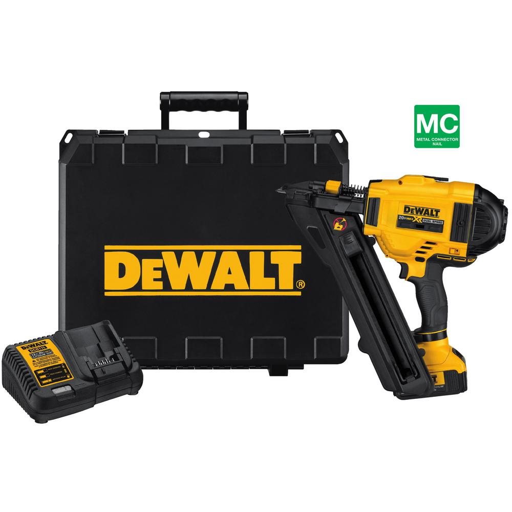DEWALT 20-Volt Max Lithium-Ion 18-Gauge Cordless Brad Nailer Kit ...