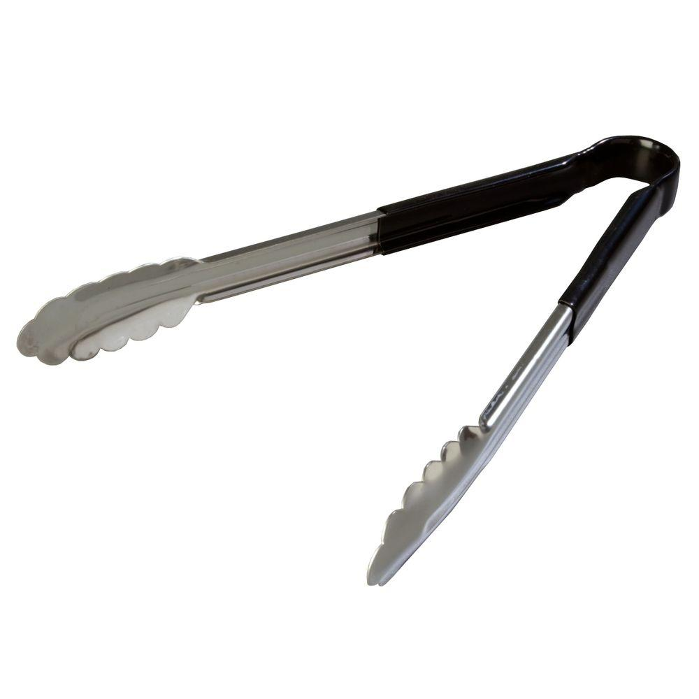Dura-Kool Stainless Steel Black Tongs Set of 12