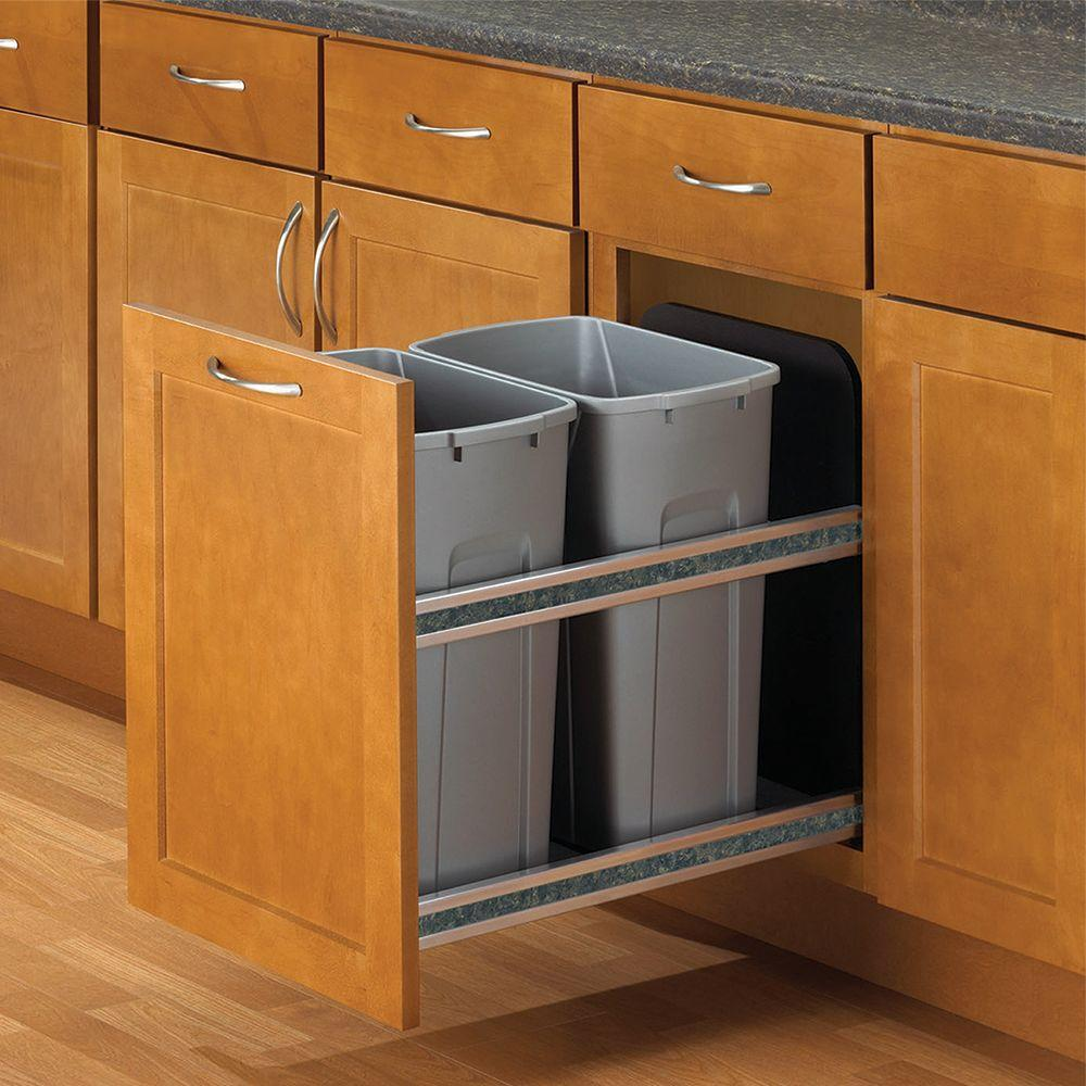 18 in. & Pull Out Trash Cans - Kitchen Cabinet Organizers - The Home Depot
